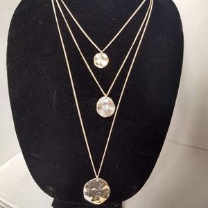 Chloe and Isabel Silver-Tone Tri-Strand Necklace